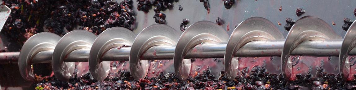 Diraspatrici e pigiatrici per uva