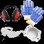 Kit protezione occhiali cuffie mascherina omaggio