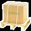 Spedizione sicura scatola fissata su bancale