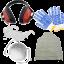 Kit protezione: occhiali, cuffie, mascherina, guanti e grembiule Omaggio!