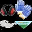 Kit protezione: occhiali, guanti, cuffie, bandana Agrieuro!
