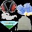Kit protezione: occhiali, cuffie, bandana Agrieuro, guanti e grembiule